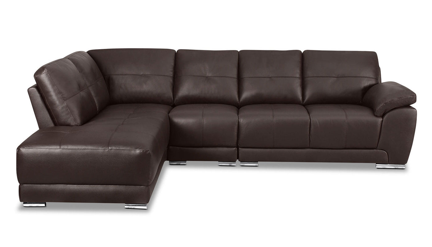 Stupendous Rylee Sectional Sofa Rylee 3 Piece Genuine Leather Right Squirreltailoven Fun Painted Chair Ideas Images Squirreltailovenorg