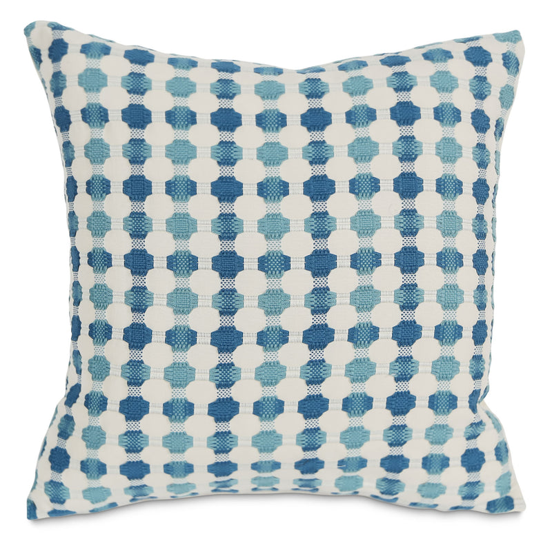 Cromwell Accent Pillow – Teal and White|Coussin décoratif Cromwell - turquoise et blanc