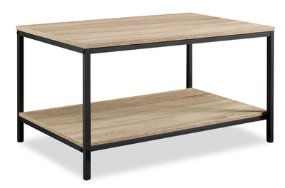 North Avenue Coffee Table - Industrial style Coffee Table in Black/Brown Metal and Wood