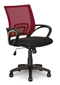 Loft Mesh Office Chair – Dark Red|Chaise de bureau Loft en mailles - rouge foncé