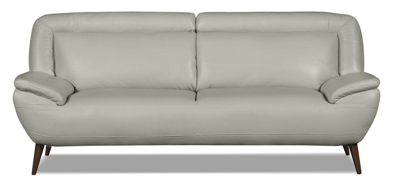 Roxy Leather-Look Fabric Studio-Size Sofa - Beige|Sofa Roxy format condo en tissu d'apparence cuir - beige