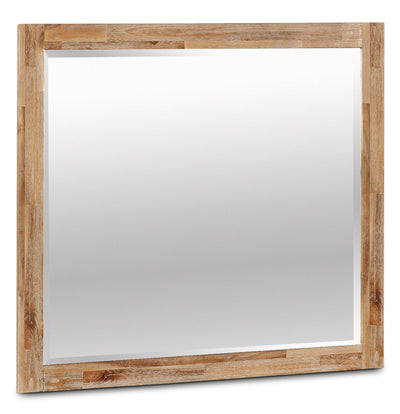 Acadia Mirror - Rustic style Mirror in Grey Brown Acacia Solids and Veneers