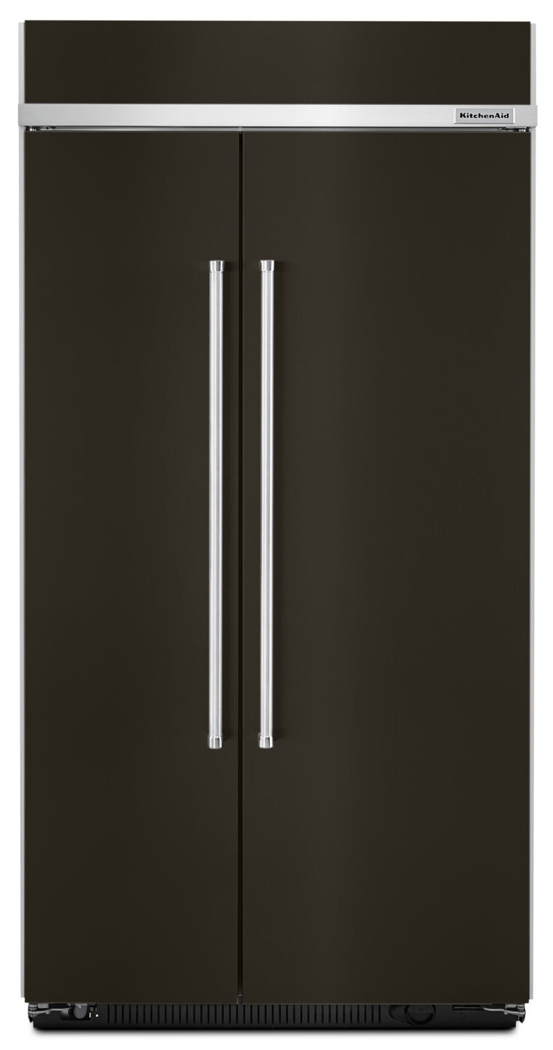 KitchenAid 25.5 Cu. Ft. Built-In Side-by-Side Refrigerator – KBSN602EBS|Réfrigérateur encastré KitchenAid de 25,5 pi³ à compartiments juxtaposés – KBSN602EBS