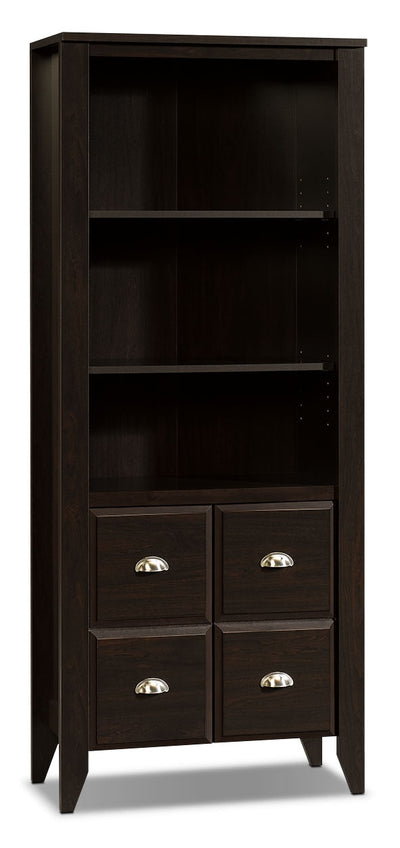 Shoal Creek Library with Doors – Jamocha Wood - Country style Bookcase in Jamocha