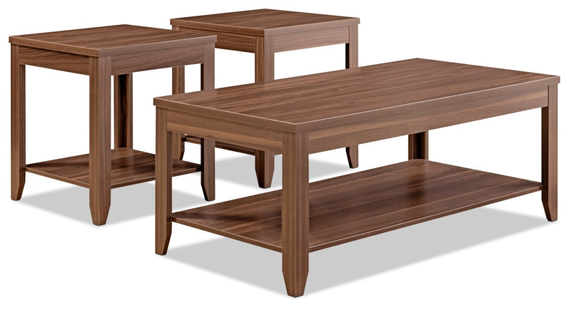 Aspen 3-Piece Coffee and Two End Tables Package|Ensemble une table à café et deux tables de bout Aspen 3 pièces