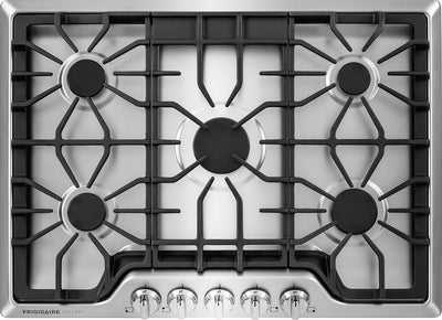 "Frigidaire Gallery 30"" 5-Burner Gas Cooktop – Stainless Steel - Gas Cooktop in Stainless Steel"
