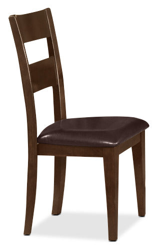Dakota Side Chair - Contemporary style Dining Chair in Dark Cherry