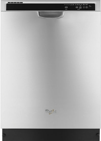 "Whirlpool 24"" Built-In Dishwasher – Stainless Steel