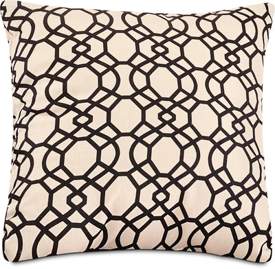Trellis Accent Pillow – Black|Coussin décoratif treillis - noir|792860DP
