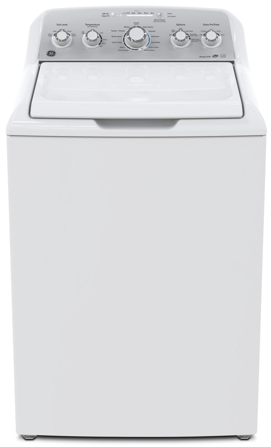 GE 4 9 Cu  Ft  Capacity Top Load Washer with Stainless Steel Drum–  GTW485BMMWS