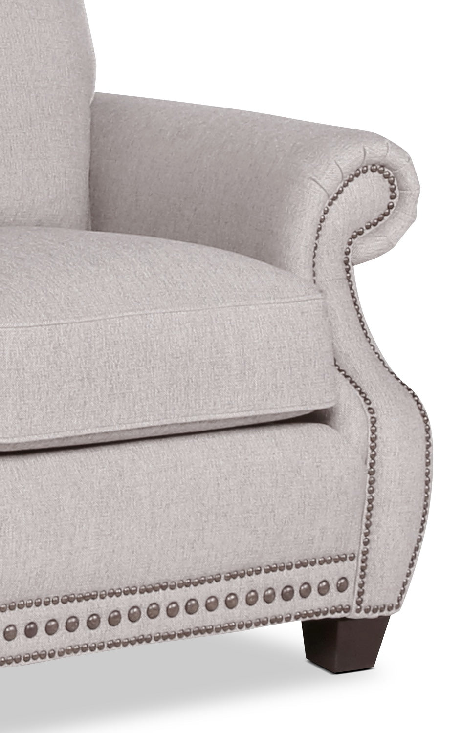 Haden Linen-Look Fabric Sofa – Grey | The Brick on chaise furniture, chaise sofa sleeper, chaise recliner chair,