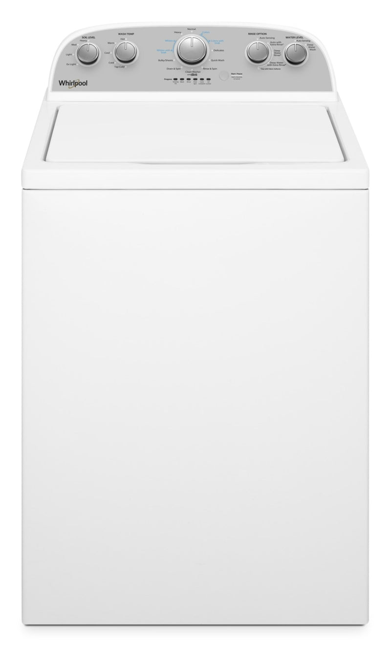 Whirlpool® 4.5 Cu. Ft. I.E.C. Top-Load Washer with Soaking Cycles – WTW4950HW|Laveuse Whirlpool à chargement par le haut de 4,5 pi3 avec cycles de trempage – WTW4950HW