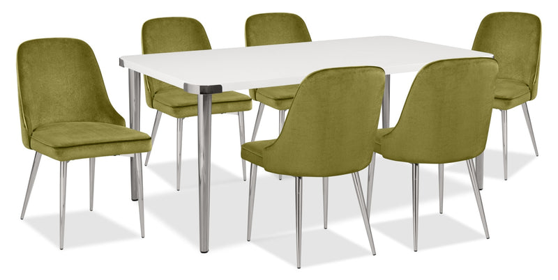 Manhattan 7-Piece Dining Package – Green|Ensemble de salle à manger Manhattan 7 pièces - vert