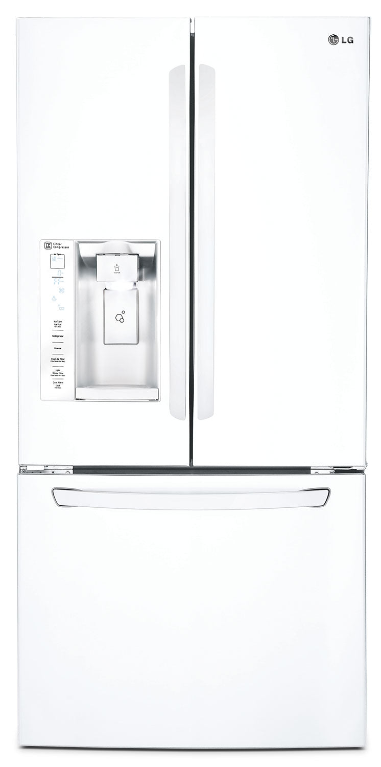 Lg 242 Cu Ft French Door Refrigerator White The Brick