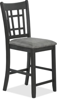 Desi Counter-Height Dining Chair – Charcoal
