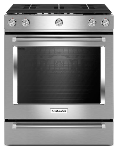 KitchenAid 5.8 Cu. Ft. Slide-In Convection Gas Range – Stainless Steel - Gas Range in Stainless Steel
