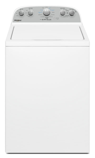 Whirlpool 4.4 Cu. Ft. IEC Top Load Washer with Soaking Cycles, 12 Cycles|Laveuse à chargement vertical Whirlpool® avec programmes de trempage, 12 programmes, 4,4 pi3 C.E.I.|WTW4955W