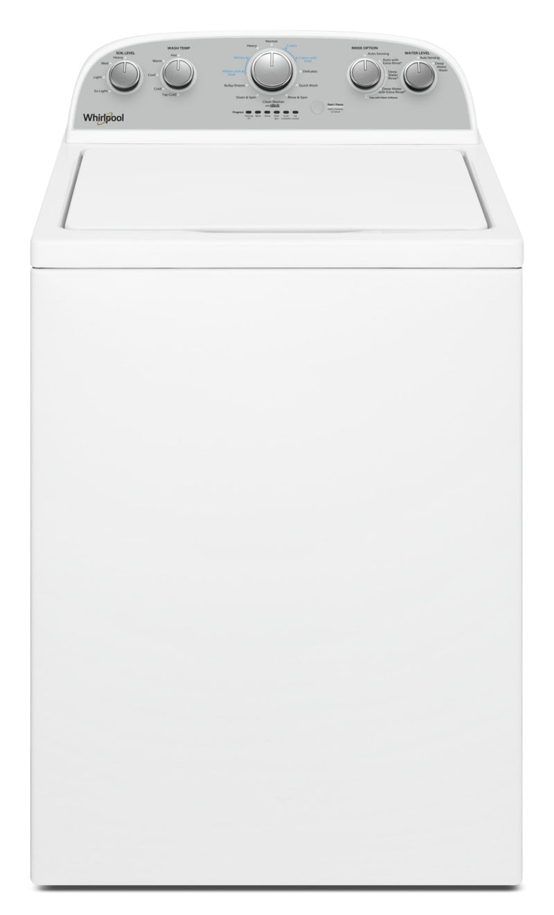 Whirlpool® 4.4 Cu. Ft. IEC Top Load Washer with Soaking Cycles, 12 Cycles|Laveuse à chargement vertical Whirlpool® avec programmes de trempage, 12 programmes, 4,4 pi3 C.E.I.