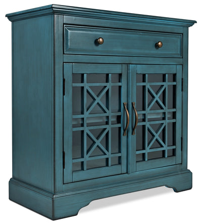 Marseille Accent Cabinet – Blue - Country style Accent Cabinet in Blue Acacia Solids and Veneers