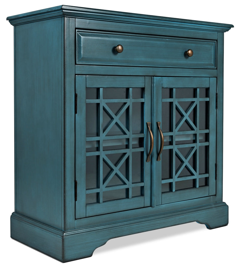 Marseille Accent Cabinet – Blue|Armoire décorative Marseille - bleue|MARBLACC