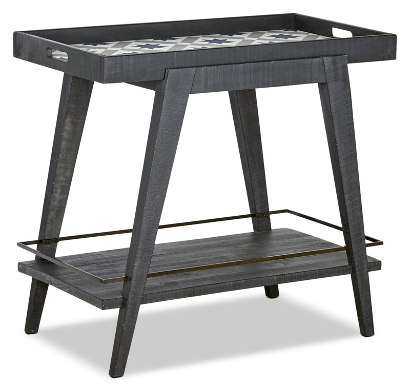 Bluff Heights Bar Cart - Washed Denim|Chariot-bar Bluff Heights - denim délavé|BLHTADBC