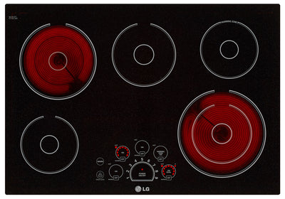"LG 30"" Electric Cooktop – LCE3010SB - Electric Cooktop in Black"