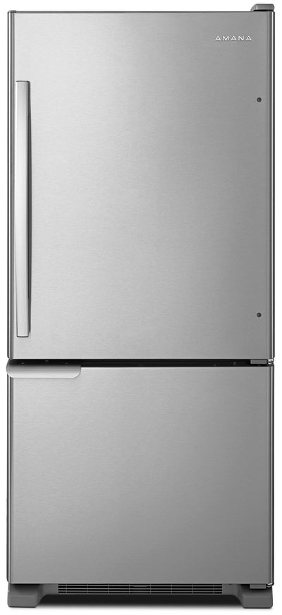 Amana 18 Cu. Ft. Bottom-Mount Refrigerator – ABB1921BRM - Refrigerator in Stainless Steel