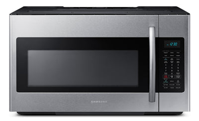 Samsung 1.8 Cu. Ft. Over-the-Range Microwave – Stainless Steel|Four à micro-ondes à hotte intégrée Samsung de 1,8 pi³ - acier inoxydable|ME18H704S