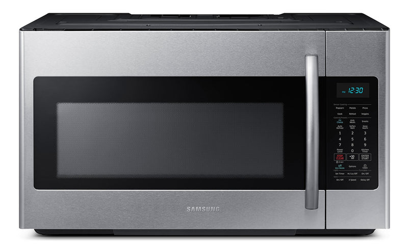 Samsung 1.8 Cu. Ft. Over-the-Range Microwave – Stainless Steel|Four à micro-ondes à hotte intégrée Samsung de 1,8 pi³ - acier inoxydable