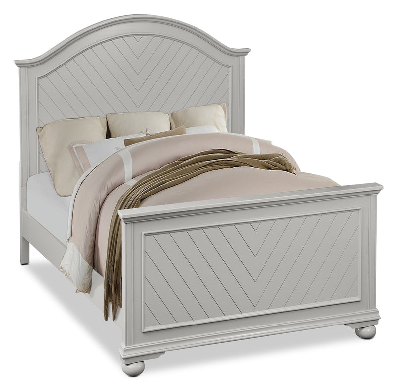 Brooke Full Bed – Grey|Lit double Brooke - gris