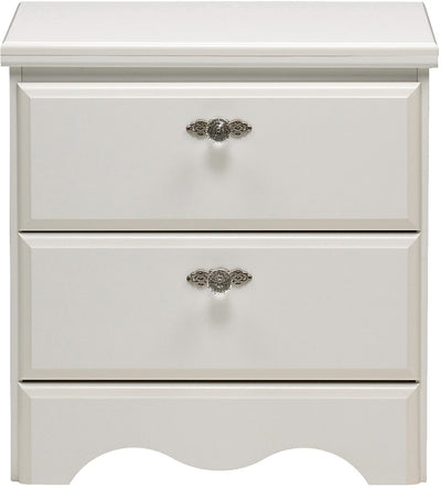 Diamond Dreams Nightstand - Traditional style Nightstand in White