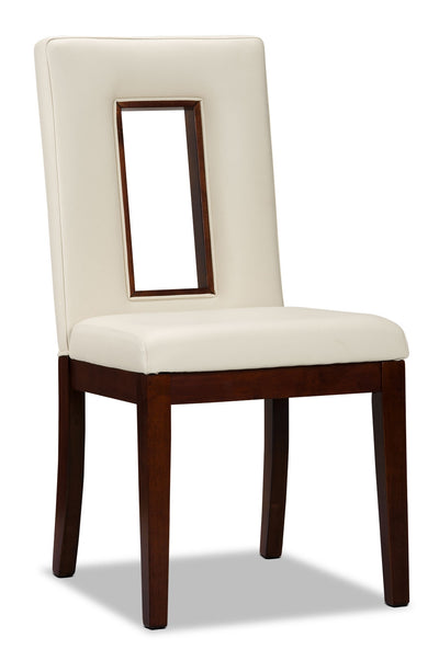 Enzo Dining Chair - Modern style Dining Chair in Cherry Faux Leather