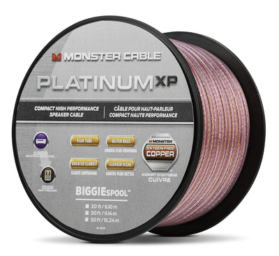 Monster® Platinum XP® Compact Speaker Cable MKIII - 15.24 m|Câble Monster Platinum XP MKIII pour haut-parleur compact - 15,24 m