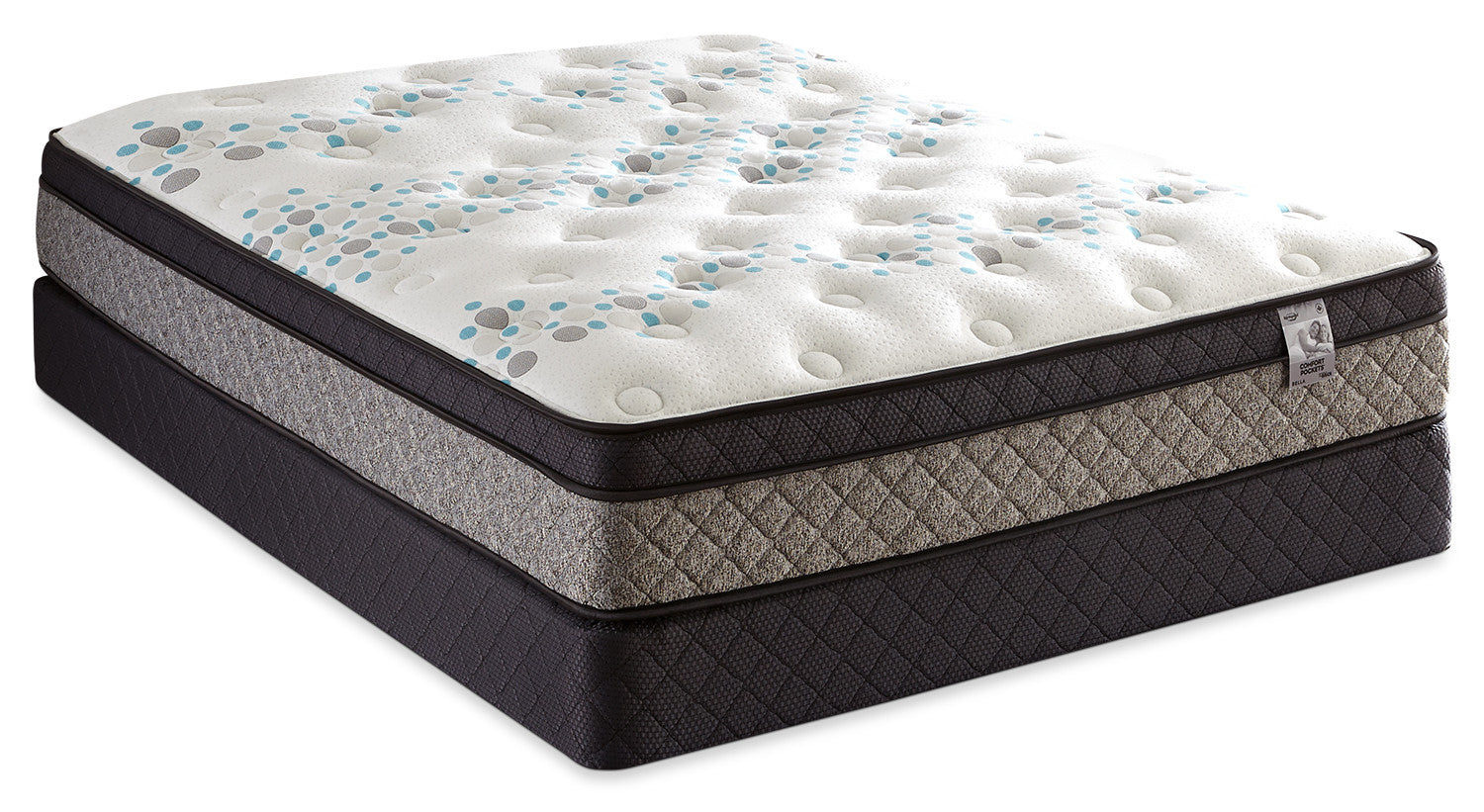 Springwall Bella Euro Top Queen Mattress Set The Brick