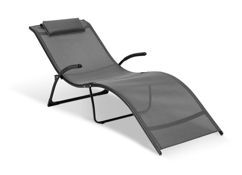 Foldable Reclining Lounger|Chaise longue inclinable et pliable