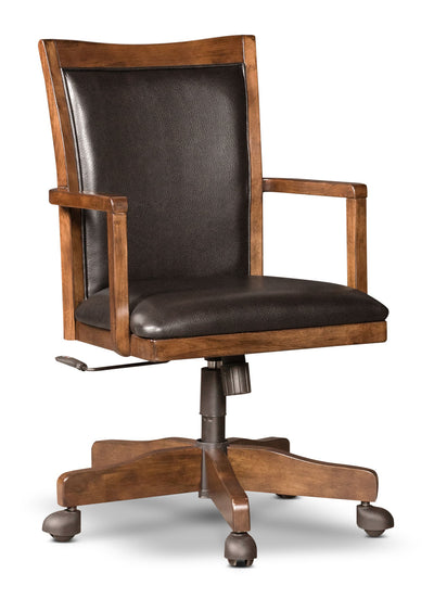 Hamlyn Desk Chair - Contemporary style Office Chair in Light Brown