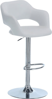 White Hydraulic Bar Stool|Tabouret hydraulique blanc