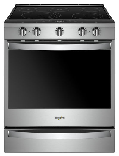 Whirlpool 6.4 Cu. Ft. Smart Slide-in Electric Range with Frozen Bake™ Technology|Cuisinière électrique coulissante intelligente Whirlpool®, technologie Frozen Bake™, 6,4 pi3|YWEE750Z