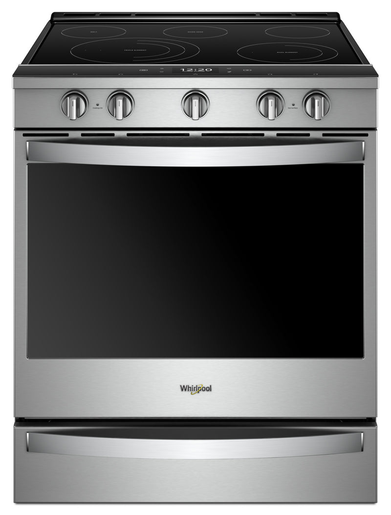 Whirlpool 6.4 Cu. Ft. Smart Slide-in Electric Range with Frozen Bake™ Technology - YWEE750H0HZ - Gas Range in Stainless Steel