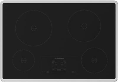 "30"" KitchenAid Architect® Series II Induction Cooktop w/ 4 Elements - KICU500XSS - Electric Cooktop in Stainless Steel"