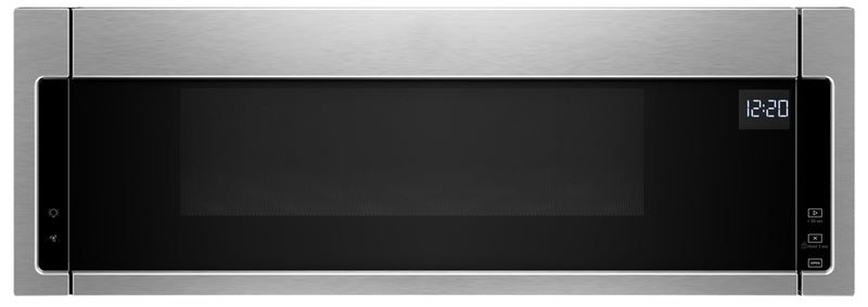 Whirlpool 1.1 Cu. Ft. Low-Profile Microwave Hood Combination – YWML55011HS|Four à micro-ondes à hotte intégrée à profil bas Whirlpool, 1,1 pi3 – YWML55011HS|YWML55HS