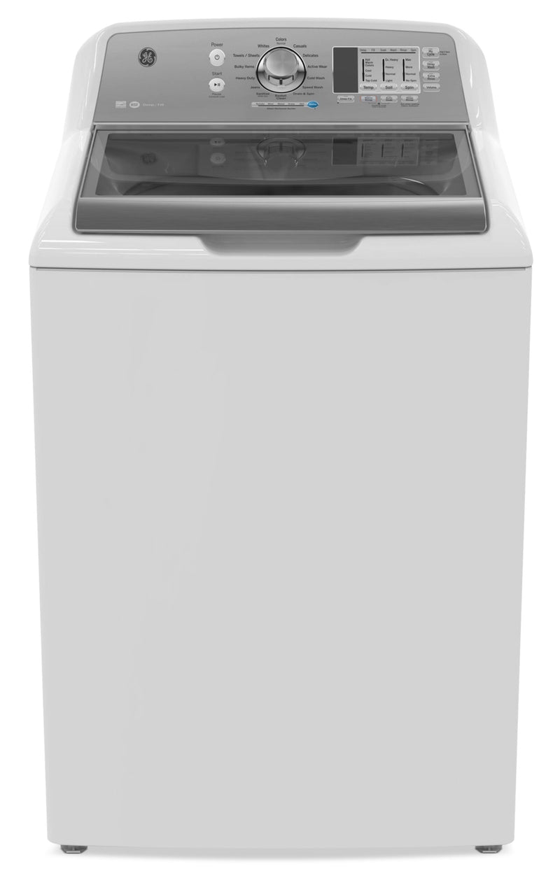 GE 5.3 Cu. Ft. Stainless Steel-Interior Washer – GTW680BMMWS - Washer in White