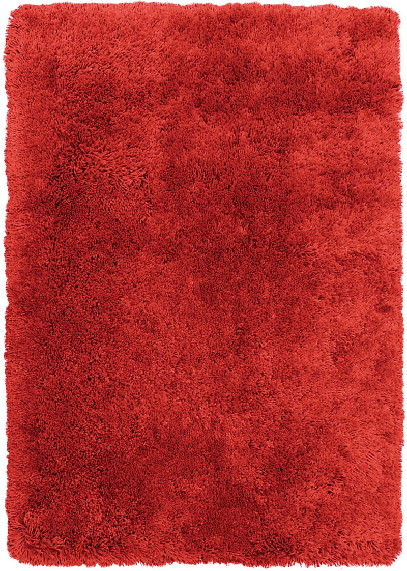 Red Fashion Shag Area Rug – 4' x 5'|Carpette à poil long tendance de 4 pi x 5 pi - rouge