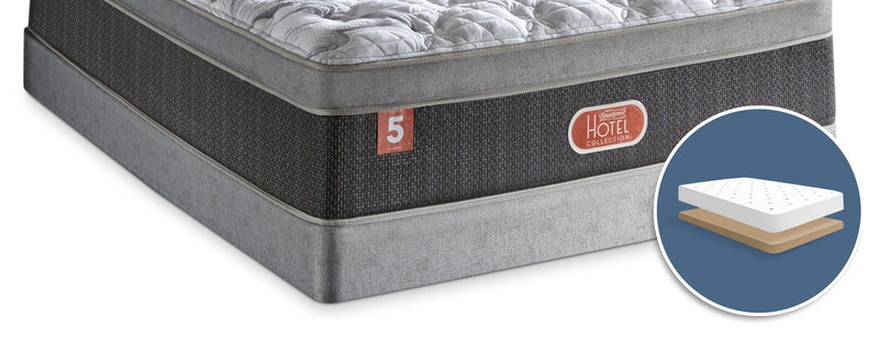 Beautyrest Hotel Diamond 2018 Low-Profile Full Boxspring|Sommier à profil bas Hotel Diamond Beautyrest 2018 pour lit double