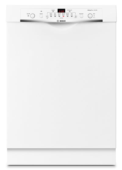"Bosch Ascenta 23.5"" Built-In Undercounter Dishwasher - White - Dishwasher with Child Lock in White"