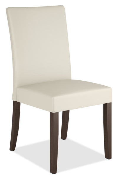 Atwood Faux Leather Dining Chair - Cream|Chaise de salle à manger Atwood en similicuir crème|DRC-885C