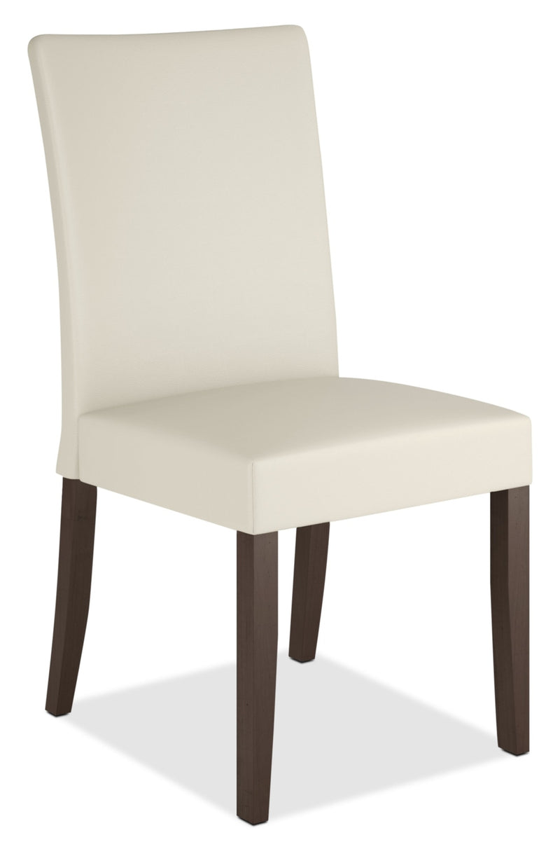Atwood Faux Leather Dining Chair - Cream|Chaise de salle à manger Atwood en similicuir crème