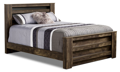 Remie Queen Bed - Rustic style Bed in Oak Engineered Wood and Laminate Veneers