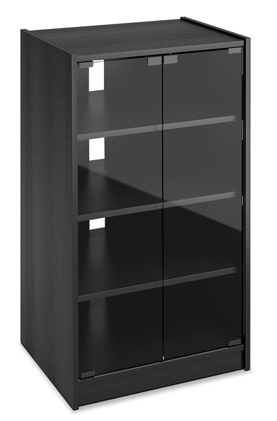 "Rio 21"" Audio Stand - Modern style Media Stand in Black Glass and Wood"