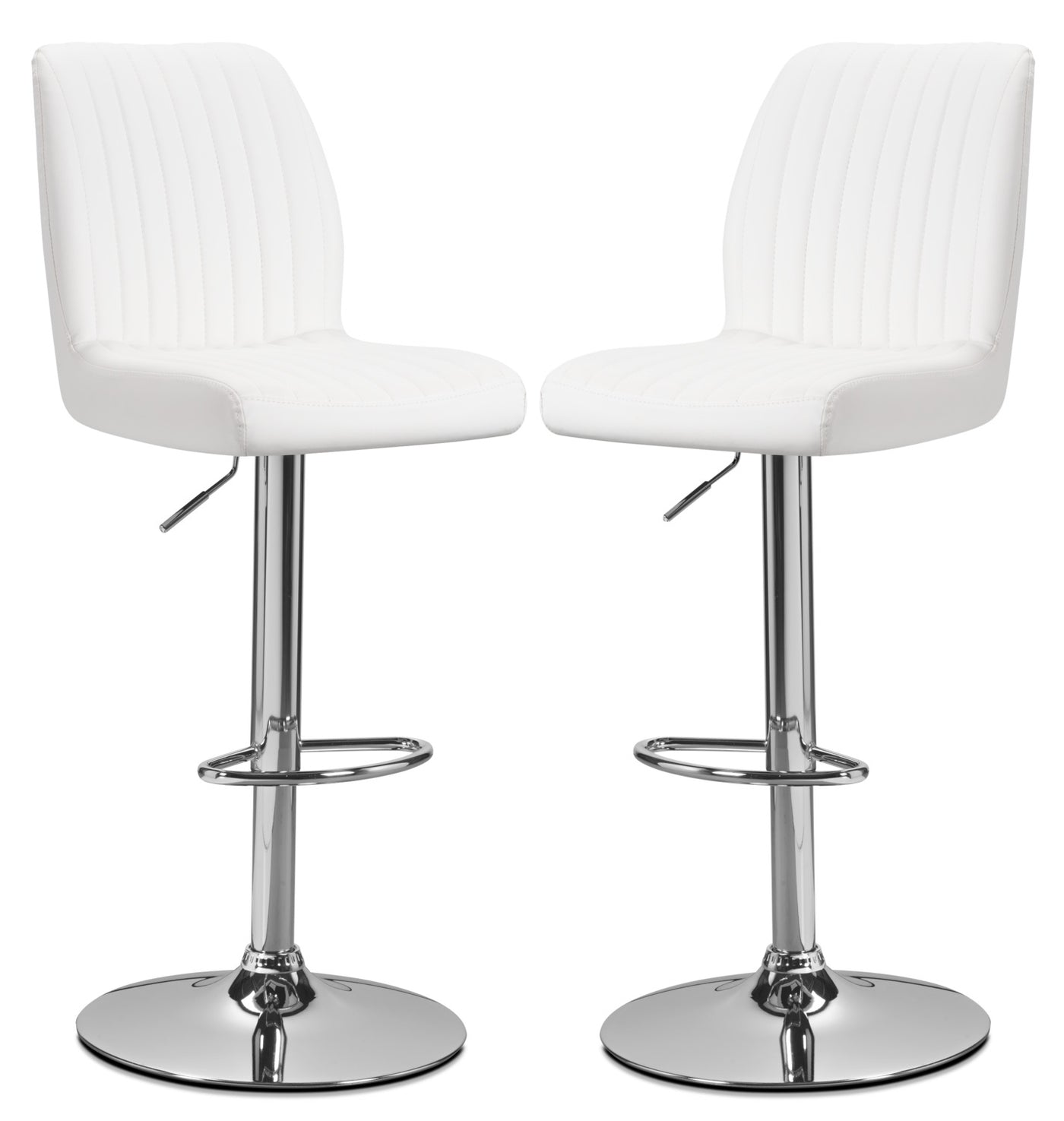 Magnificent Monarch Adjustable Bar Stool Set Of 2 White Gamerscity Chair Design For Home Gamerscityorg